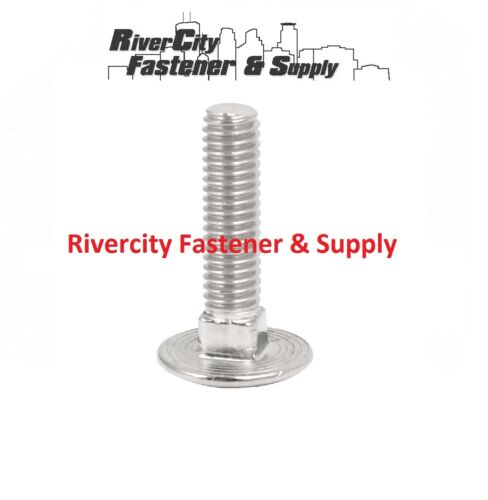 M6-1.0x25mm or M6x25 mm Stainless Carriage Bolts Screws  6mm x 25mm 100
