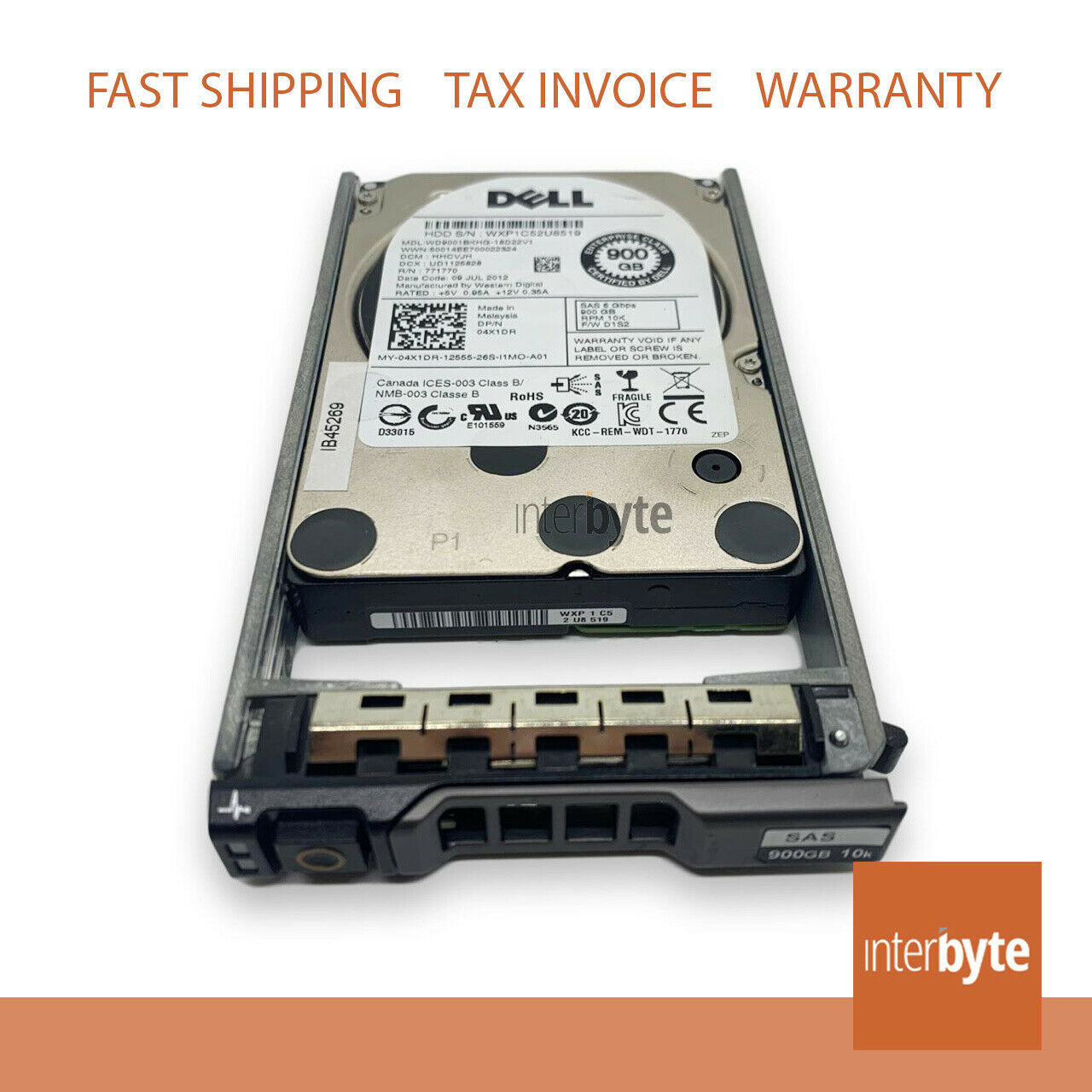 Harti Compliants/ 190FH Dell 300-GB 12G 15K 2.5 SAS For Dell PowerEdge T-Series Dell PowerVault M-Series R-Series C-Series