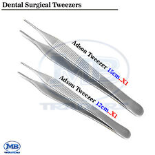 New Listingdental Surgical Suturing Tissue Dissecting Adson Tweezer Picking Dressing Forcep