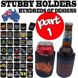 Awesome Dad Stubby Holder Funny Novelty Birthday Stubbie