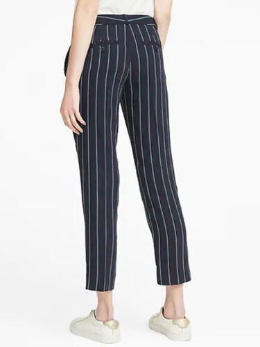 Straight 10 Stripe Crepe Pant 8 Republic 98 Ankle Banana Avery fit Stretch 12 2 4qftxn706w