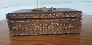 Beautiful-Vintage-Hand-Made-Wooden-Carving-antique-Art-BOX-CHEST