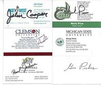 UNC CHARLOTTE HEAD COACH AND NBA LEGEND MARK PRICE SIGNED BUSINESS CARD
