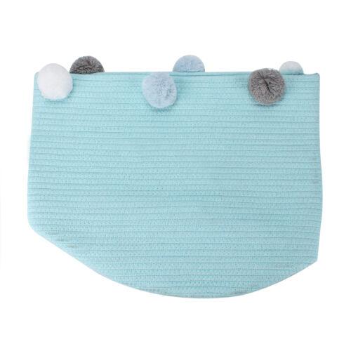 Toy Hamper Pompom Laundry Washing Clothes Storage Basket Bin Foldable Large UK