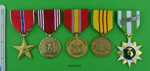 5-ARMY-VIETNAM-MEDALS-Bronze-Star-Good-Conduct-National-Defense-Service-Campaign
