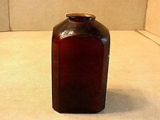 Antique 19ThC Amber Snuff Bottle With Tooled Rim
