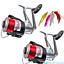 Sea-Fishing-Reel-x-2-Silk-70-Big-Fixed-Spool-Lineaeffe-Beach-Pier-15lb-Line