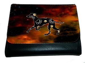 Greyhound Purse Wallet Lurcher Striking Dark Design Purse Xmas Thankyou Gift