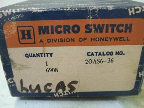 Details about  /MICROSWITCH 20AS6-36 *NEW IN BOX*