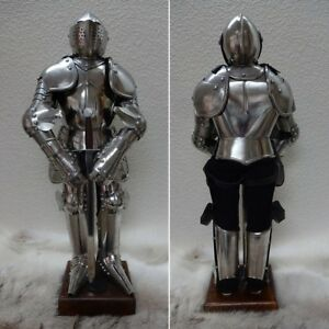 Image Is Loading Miniature Meval English Suit Of Armour On Stand