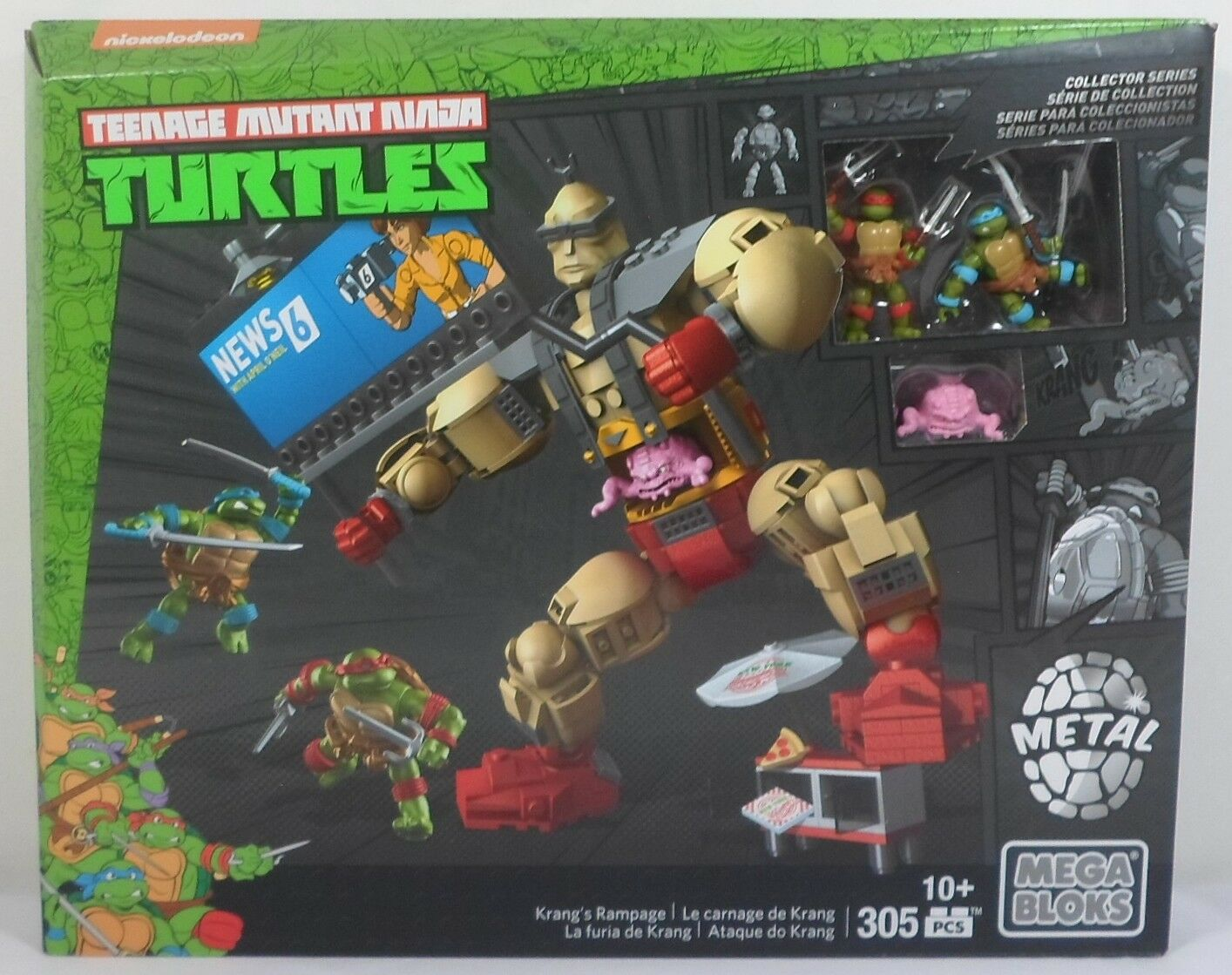 Mega - bloks dmw32 krang amoklauf 305 pcs teenage mutant ninja turtles versiegelt