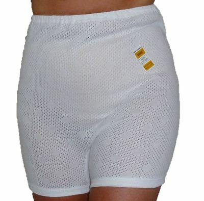 XOS  NEW Women/'s Eyelet Long Leg Knickers Bloomers 100/% Cotton Size OS