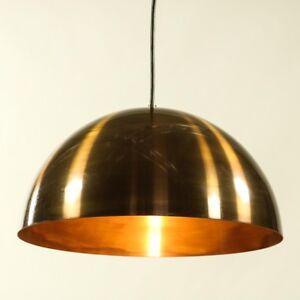 Pendel-Leuchte-Messing-Halbkugel-Haenge-Lampe-Vintage-Dansk-Pendant-60-70er-2-4