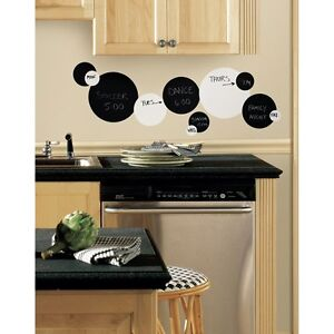 31-New-Black-Chalkboard-White-Dry-Erase-Boards-Polka-Dots-Wall-Decals-Stickers