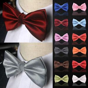 Men Classic Wedding Bowtie Necktie Bow Tie Pre Tied Tuxedo Adjustable USA