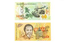 1 set of 2 diff. Papua New Guinea 50 Kina Au-Unc. & 100 Kina Au-Unc.