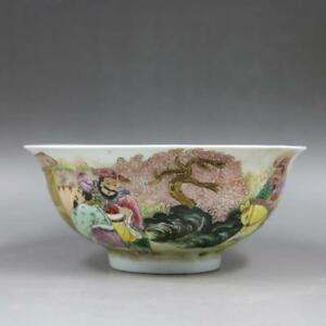 CHINESE-OLD-MARKED-FAMILLE-ROSE-THREE-KINGDOMS-STORY-PATTERN-PORCELAIN-BOWL