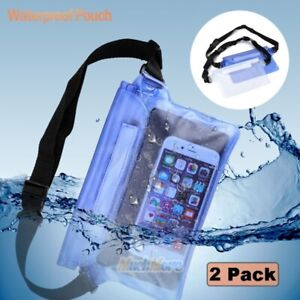 2x-Waterproof-Waist-Pouch-Bag-Dry-Underwater-Case-Cover-for-iPhone-Cell-Phone-US