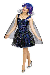 Sternen Fee Elfe Sterntaler Kleid Mit Umhang Damen Kostum Karneval