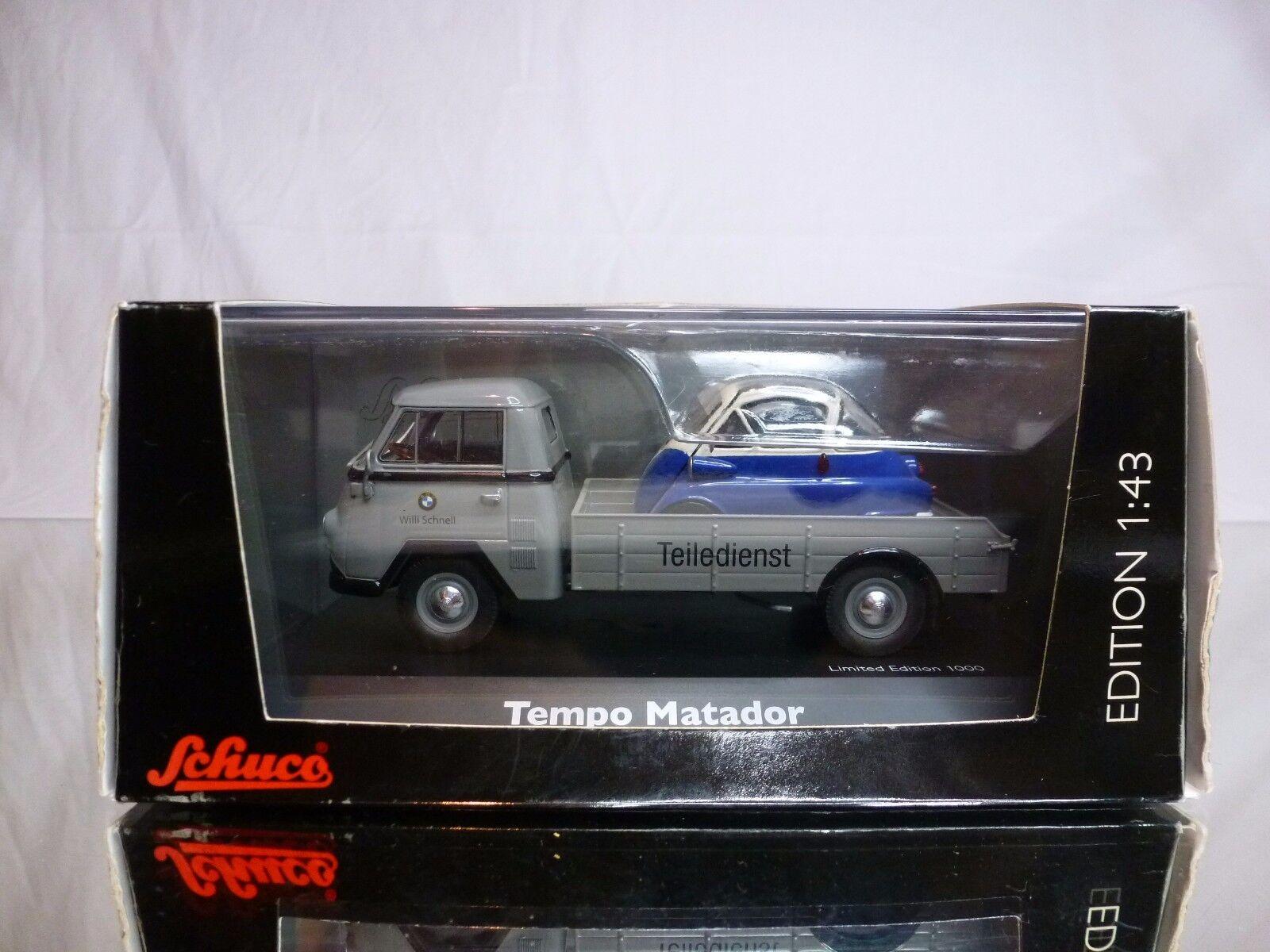 SCHUCO 3327 TEMPO MATADOR + BMW ISETTA - 1 43 43 43 - EXCELLENT IN BOX dcd8ed