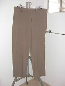 JM-COLLECTION-Petite-Women-039-s-Brown-Career-Dress-Pants-Flattering-Fit-Sz-14-PS