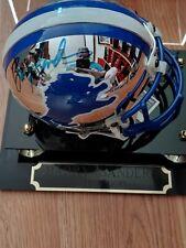 Barry Sanders Autographed Detroit Lions Chrome Mini Helmet. UDA.
