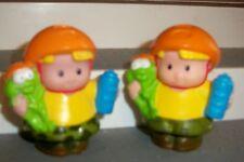Fisher Price Little People Bike Helmet BOYS LOT 2  Water Bottle CAMO TWINS FROGS