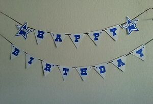 cowboys dallas happy birthday banner free shipping ebay