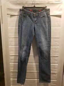 EXPRESS-JEANS-women-039-s-Stella-Skinny-Low-Rise-Dark-Wash-Jeans-Size-2R-EUC-EJ3