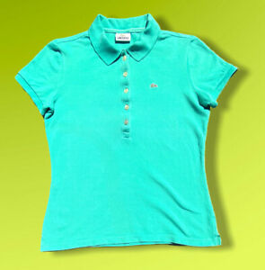 Womens-Lacoste-Green-Vintage-Designer-Polo-Shirt-T-Shirt-Size-42-Large-P2P-17-5