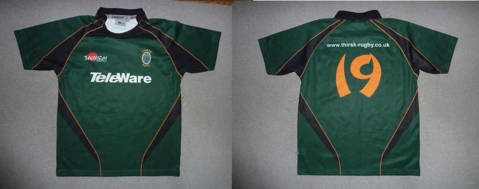 Thirsk Rugby Union Shirt Schottischer Rugby-Trikot Medium    19 Matchwornrugby b9e2ef