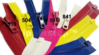 22\ Vislon Zipper ~ YKK #5 Molded Plastic ~ Separating 820 Atom Red 1 Zipper// Pack