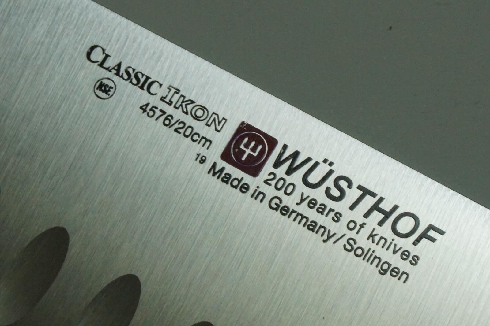 Wüsthof Classic Ikon 8  Creux-EDGE Couteau de cuisine, 4576 20cm (Jan22-c)