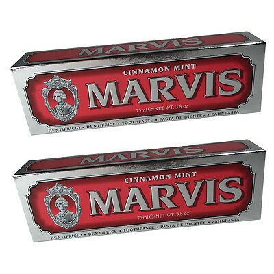 2 x Marvis Zahncreme 75ml Cinnamon Mint Zahnpasta aus Italien Florenz Rot