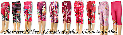 2-PACK Girls Summer 3/4 CHARACTER Leggings Kids & Toddlers Tights Age 1-12 Years
