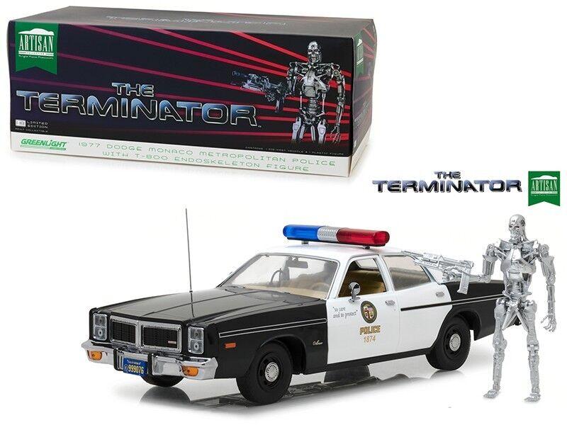 The Terminator 1977 Dodge Monaco Metropolitan Police with T-800 verdelight 1 18