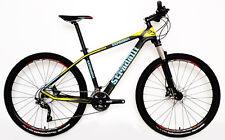 "M 17"" STRADALLI CARBON FIBER HARDTAIL BICYCLE MTB BIKE BLUE YELLOW 27.5"" 650B"