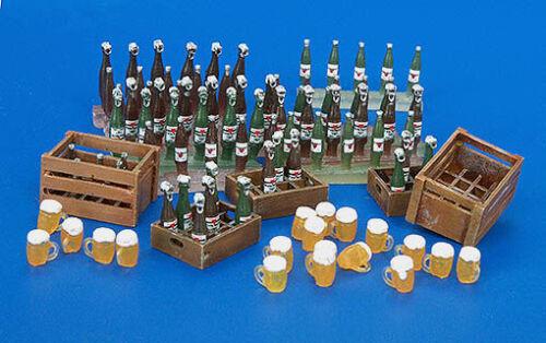 Gläser -flaschen und Plus Model 220-1:35 Resin Bausatz Bierkisten