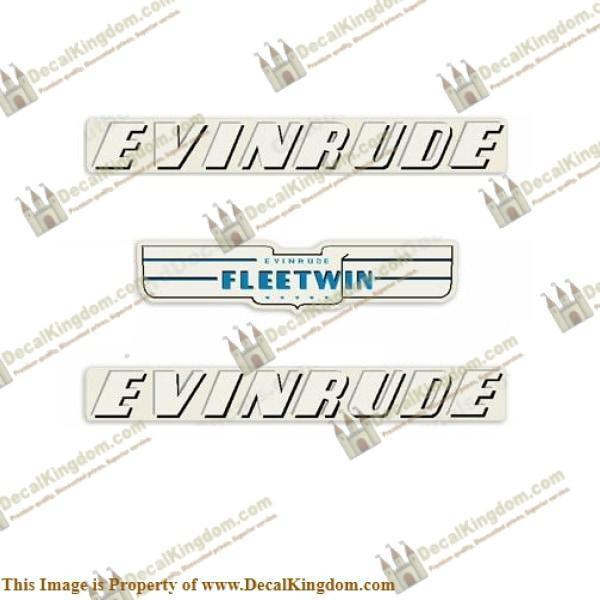 Evinrude 1950 7.5hp Outtavola Decal Kit 3M Marine Grade