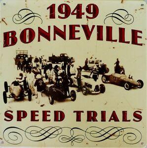 1949-BONNEVILLE-SPEED-TRIALS-W-295-mm-x-H-295-mm-ALL-WEATHER-METAL-SIGN