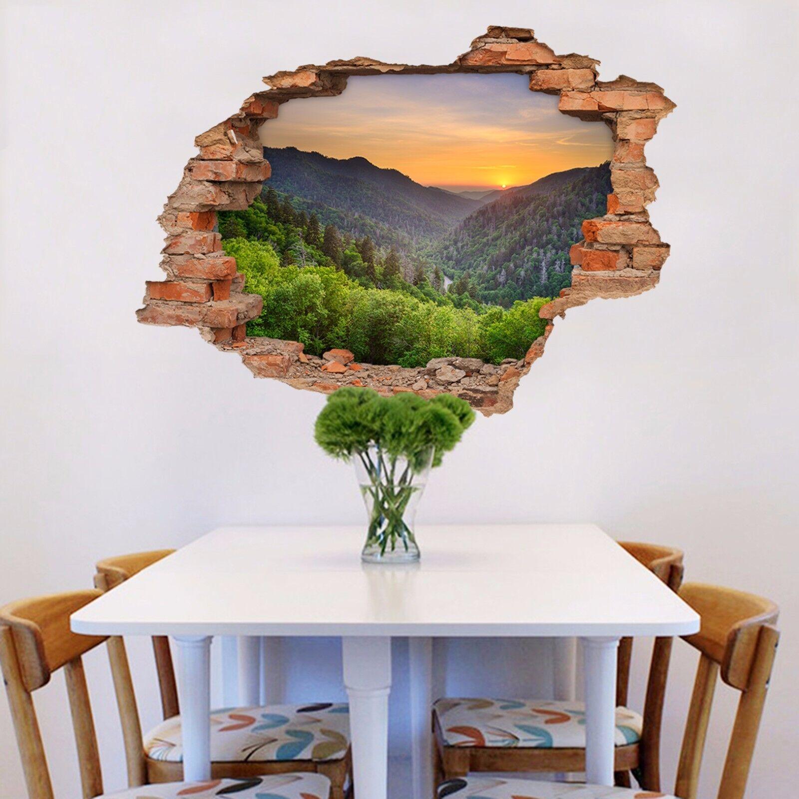 3D Berg Dschungel 8 Mauer Murals Mauer Aufklebe Decal Durchbruch AJ WALLPAPER DE