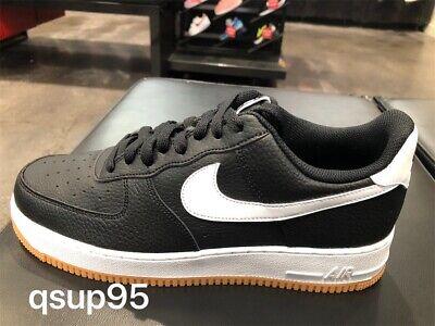 Nike Air Force 1 One Low Black White Gum CI0057 002 Mens GS Womens Size 4Y 13 | eBay
