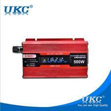 LCD Digital Display 500W Car Power Inverter DC 12V to AC 220V Adapter Converter