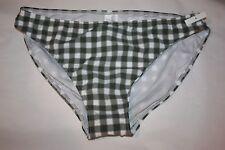 Seafolly Green Plaid Bikini Bottoms ONLY USA Size 10