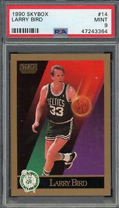 Larry Bird Boston Celtics 1990 Skybox Basketball Card #14 Graded PSA 9 MINT
