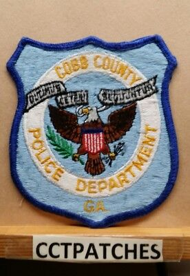 New Cobb County Georgia Police Patch