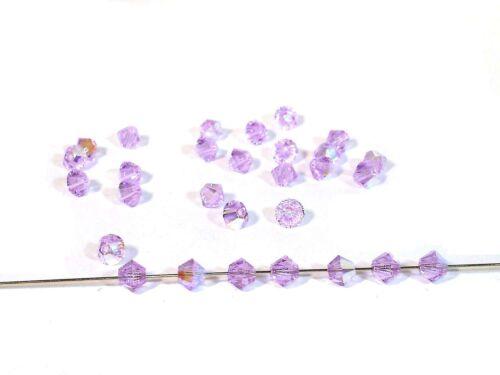 Swarovski® Perlen Bicone 10 Stück #SW71-10 Violet AB 4mm