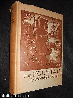 Vintage Fiction Novel Charles Morgan; The Fountain 1932-1st Wwi Set Novel