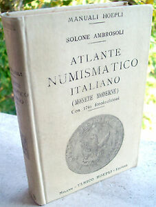 Analytique 1906 Manuale Hoepli Atlante Numismatico Italiano Monete Moderne Malta Prima Ediz Haute RéSilience