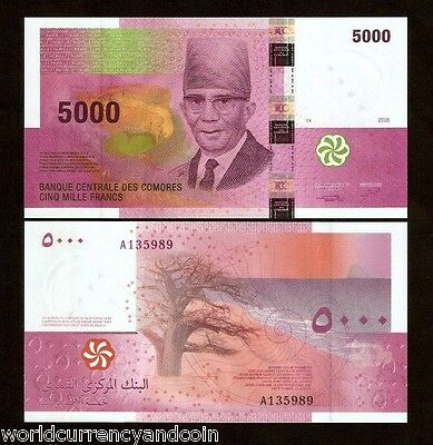 Coins & Paper Money Diplomatic Comoros Islands 5000 5,000 Francs P18 2006 A Prefix President Unc Currency Note Sales Of Quality Assurance Other African Paper Money